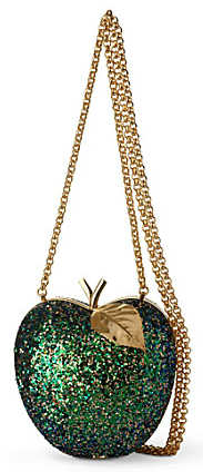 Anya Hindmarch Apple Glitter Clutch