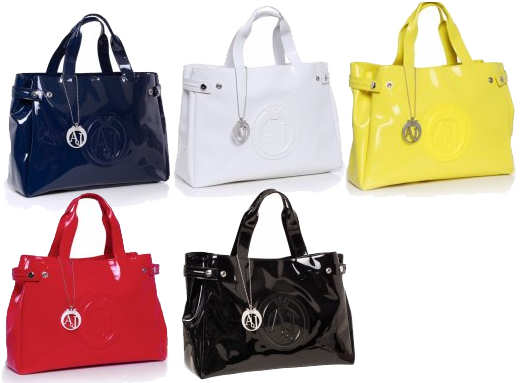 Armani Jeans Patent Shoppers for 2012