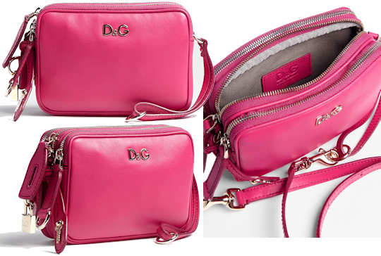 D&G Lily Pink Leather Mini Bag