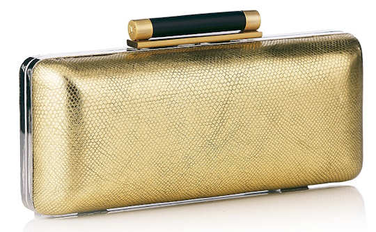 DVF Tonda Clutch in Gold