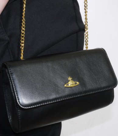 Vivienne Westwood Memphis Black Leather Mini Bag