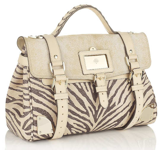 Mulberry Travel Day Bag in Zebra Animal Print