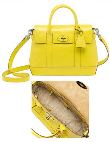 Mulberry Yellow Holiday Bayswater Satchel