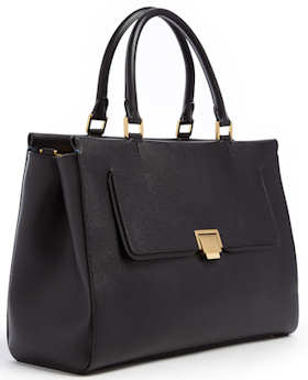 Smythson Grosvenor Collection Tote in Black