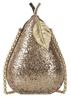 Anya Hindmarch Pear Glitter Clutch