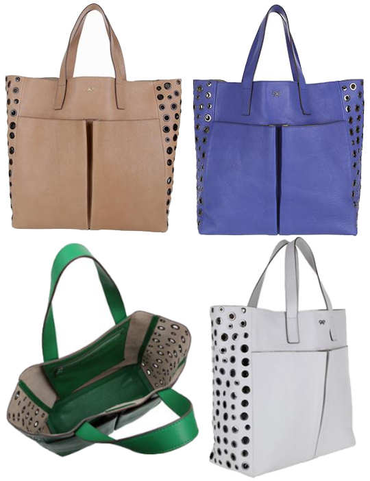 Anya Hindmarch Raw Nevis Peephole Tote Bag