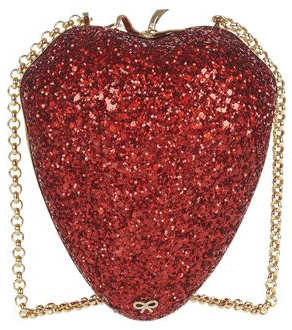 Anya Hindmarch Strawberry Glitter Clutch
