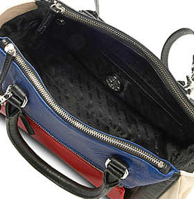 DKNY Geometric Satchel interior
