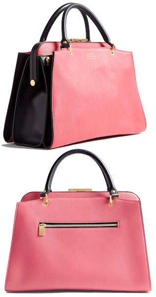 Smythson Antonia Medium Bag in Rose