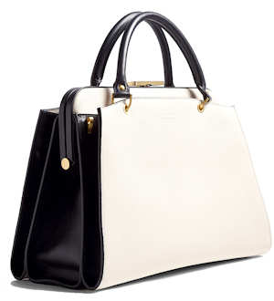 Smythson Antonia Medium Bag in White