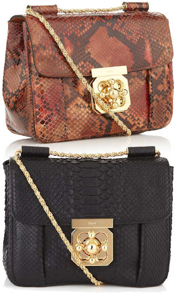 Chloe Elsie Python Shoulder Bag