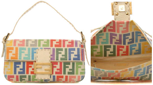 Fendi Multicoloured Logo Baguette