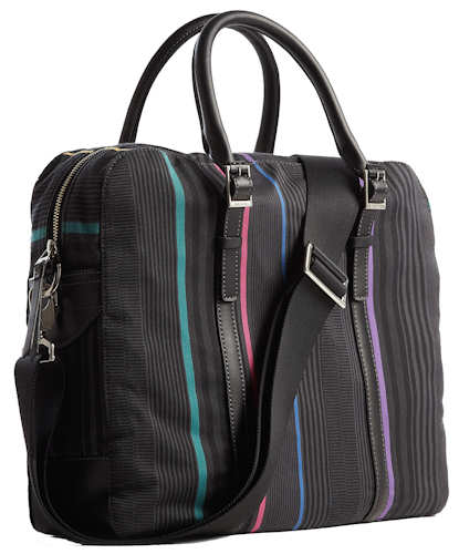 Paul Smith Boating Stripe Emerson Laptop Briefcase