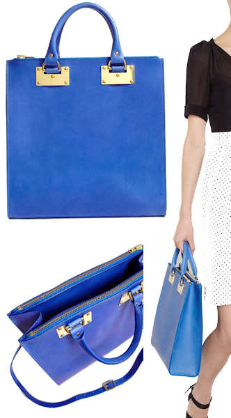 Sophie Hulme Blue Tote Bag