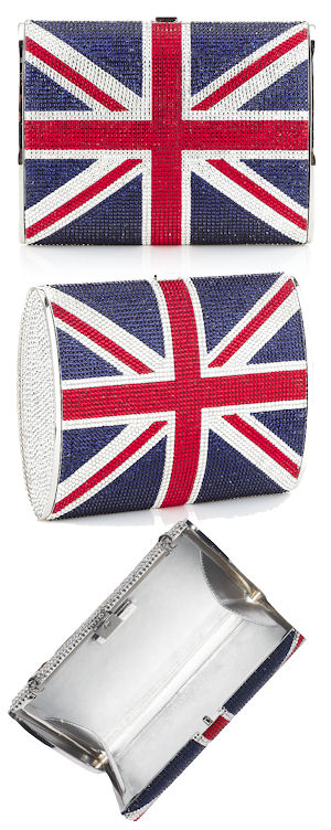 Judith Leiber Union Jack Clutch Bag