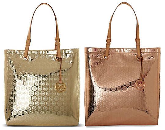Michael by Michael Kors Logo Metallic Tote