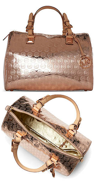 Michael by Michael Kors Rose Gold Large Grayson Bag