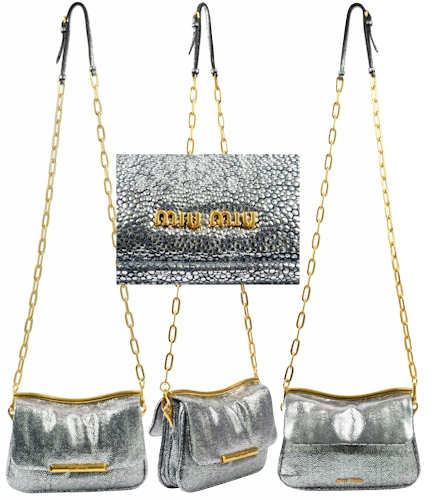 Miu Miu Stingray Metallic Bag