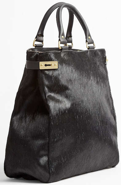 Sophie Hulme Black Pony Skin Tote Bag