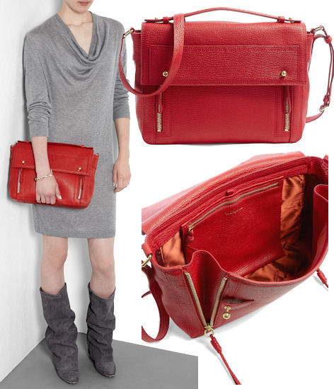 3.1 Phillip Lim Pashli Messenger Bag in Red