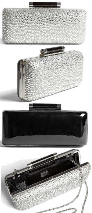 Diane Von Furstenberg Tonda Clutch in Crystal and Patent