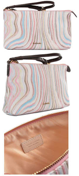 Paul Smith White Swirl Wristlet
