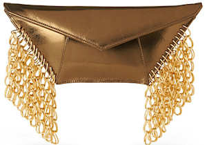 Kzeniya Wild Chain Clutch in Gold