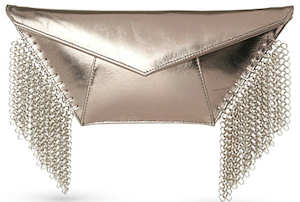 Kzeniya Wild Chain Clutch in Silver