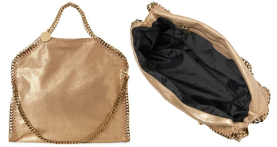 Stella McCartney Falabella Shoulder Bag in Metallic Gold