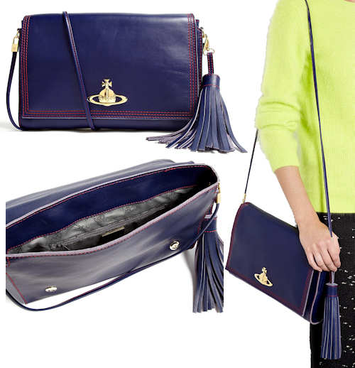 Vivienne Westwood Blue Dolce Vita Shoulder Bag