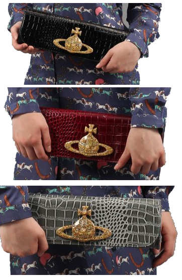 Vivienne Westwood Chancery Clutch in Black, Cherry or Olive