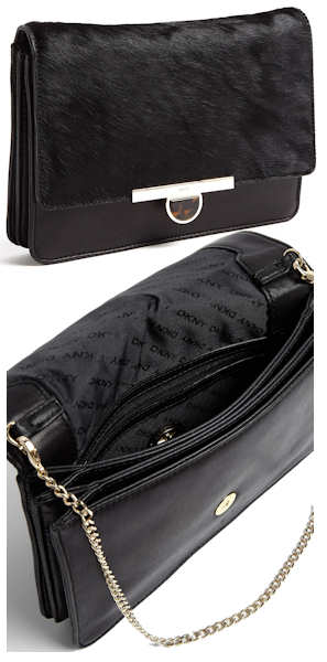 DKNY Black Haircalf Clutch