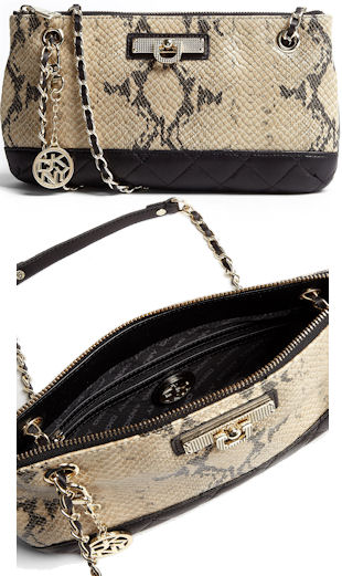 DKNY Snake Print Shoulder Bag