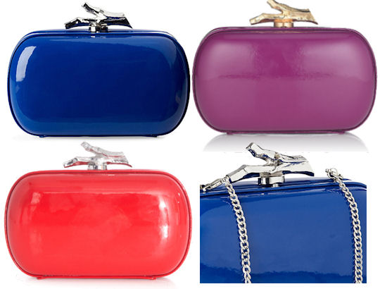 Diane Von Furstenberg Patent Leather Lytton Clutch