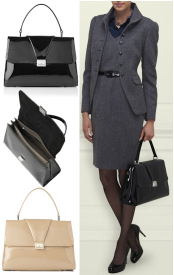 LK Bennett Leadon Patent Leather Grab Bag