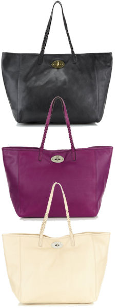 Mulberry Dorset Tote in Westie White, Forest Fruit and Black