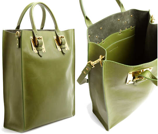 Sophie Hulme Lime Green Tote Bag