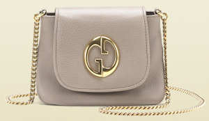 Beige Gucci 1973 Chain Shoulder Bag