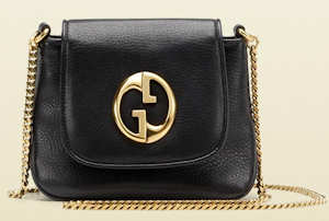Black Gucci 1973 Chain Shoulder Bag