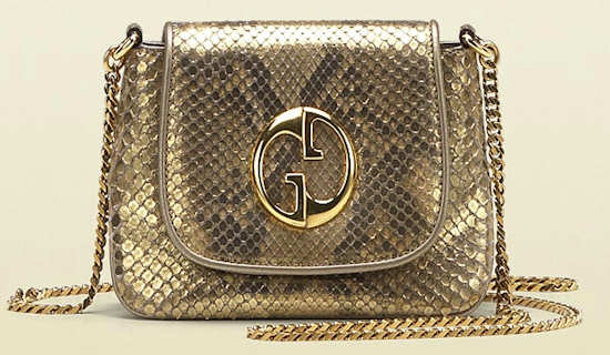 Gold Python Gucci 1973 Chain Shoulder Bag