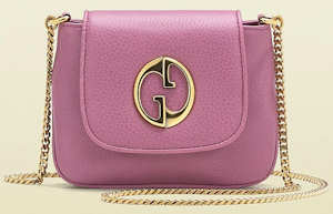 Pink Gucci 1973 Chain Shoulder Bag