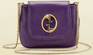 Purple Gucci 1973 Chain Shoulder Bag